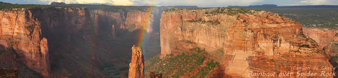 Rainbow over Spider Rock