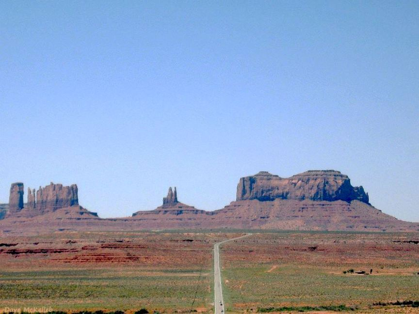 Monument Valley at a distance on US163
